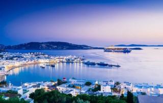 Abendstimmung auf der griechischen Insel Mykonos