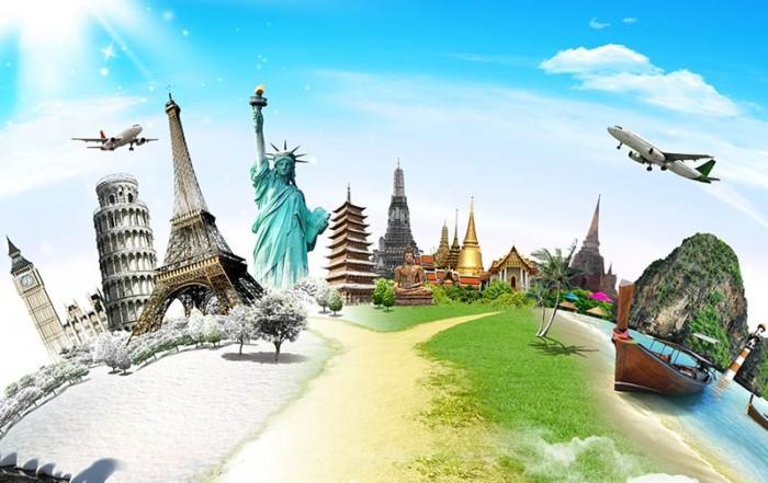 Symbolbild für weltweites Reisen