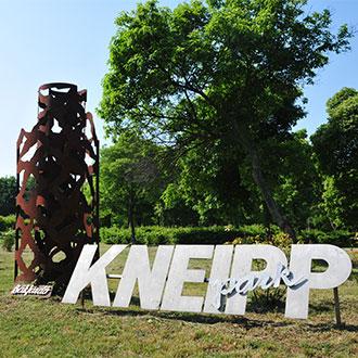 Der Kneipp-Barfußpark in Bük
