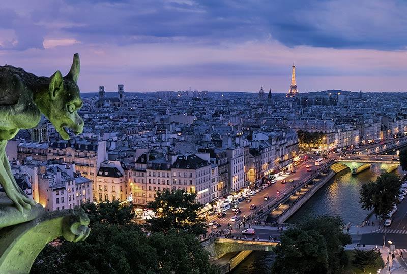 Paris, Panorama bei Nacht