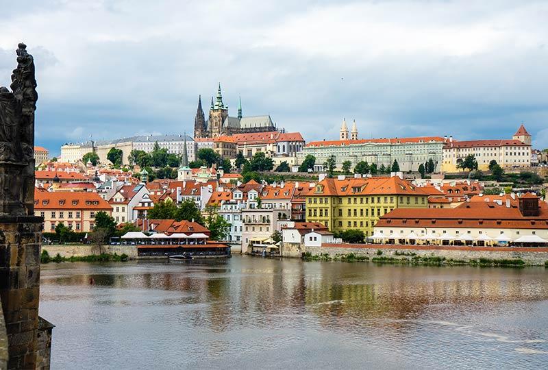 Prag, Panorama von der Karlsbrücke