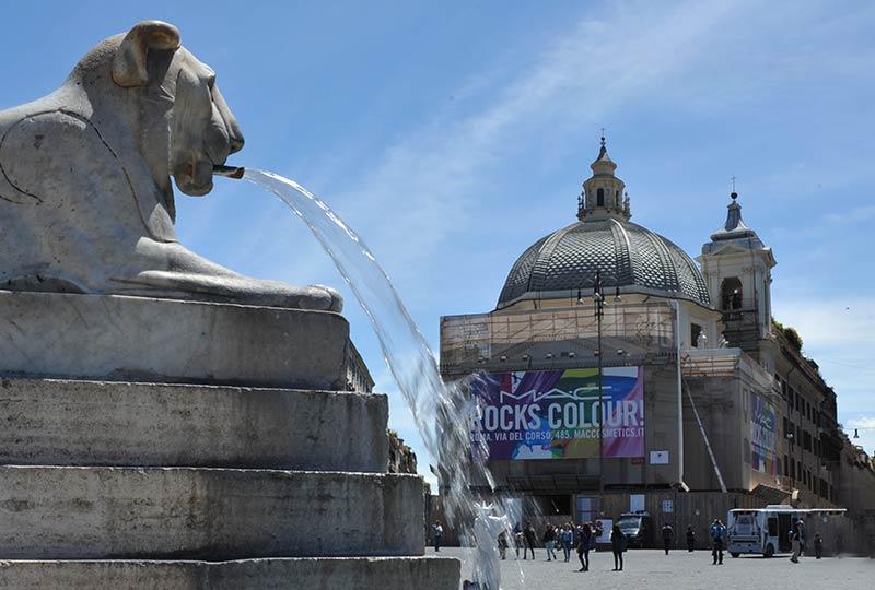 Rom, Piazza del Popolo mit Brunnen