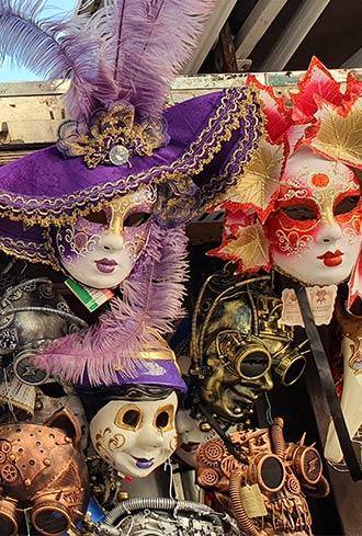 Karnevalsmasken in Venedig