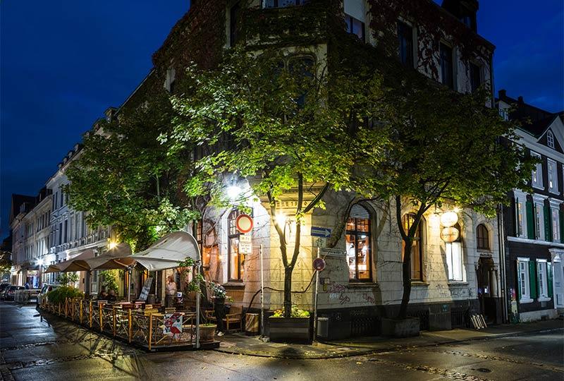 Das Luisenviertel in Wuppertal bei Nacht