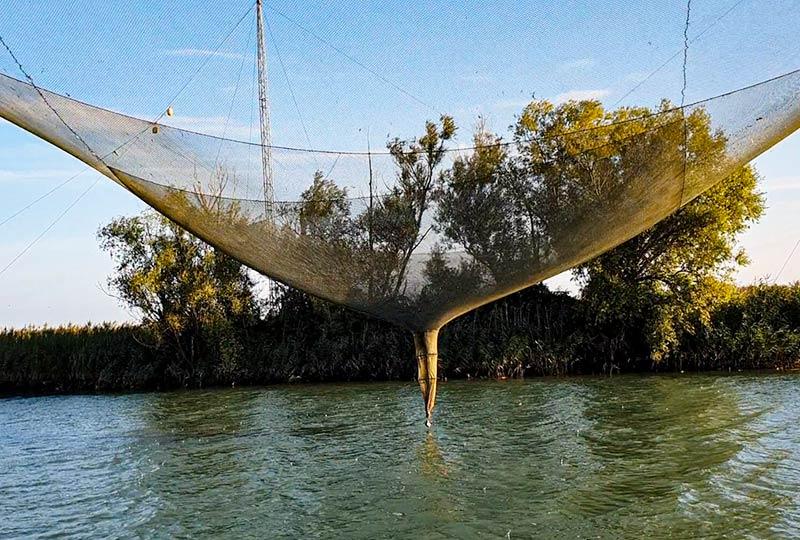 Fangnetz bei der Bilancia di Bepi
